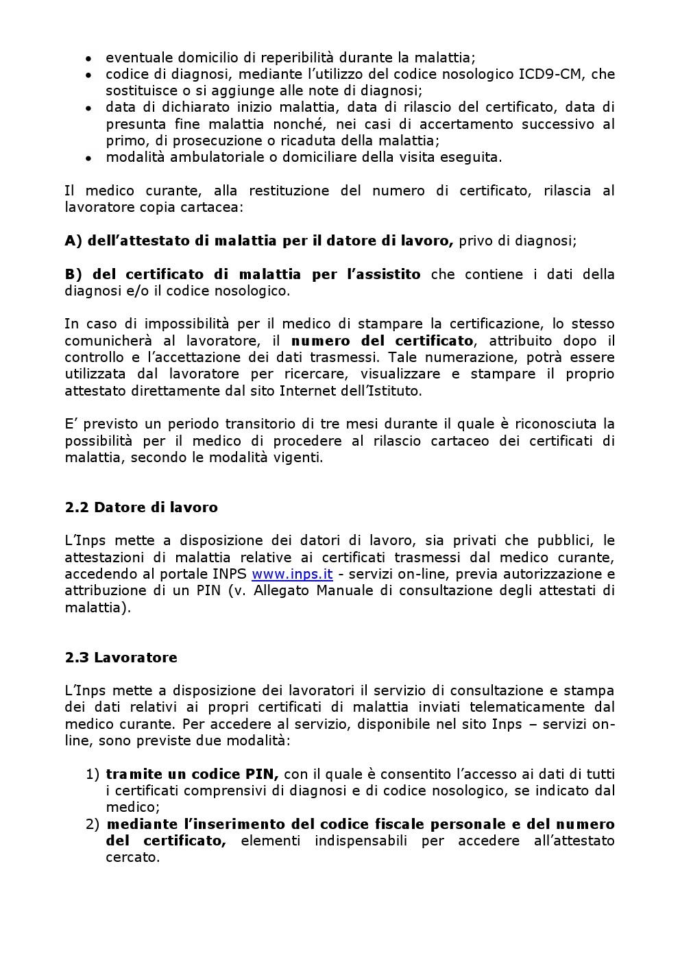 CERTIFICATO MEDICO INPS DATORE DI LAVORO SCARICA